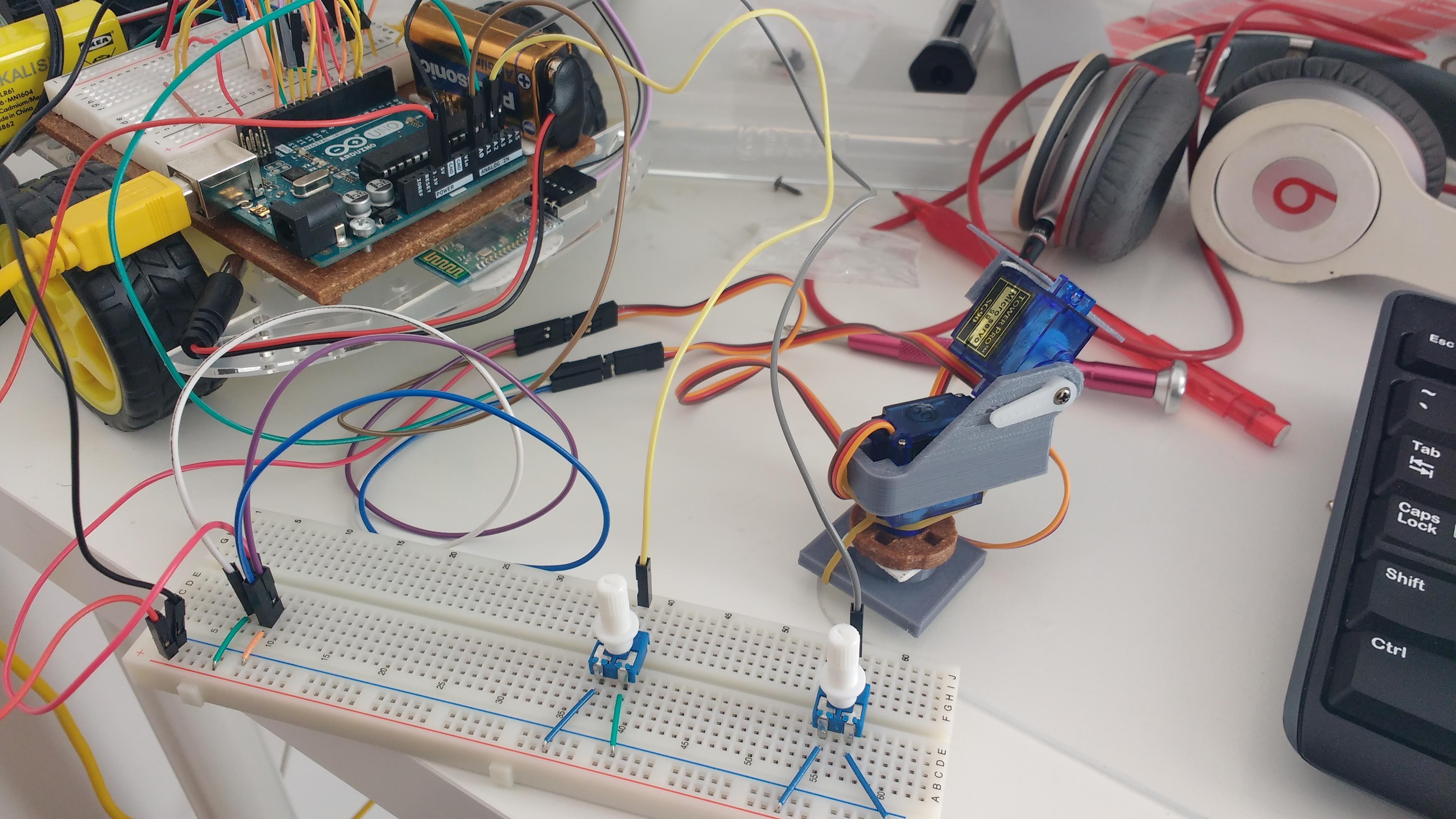 Arduino Potentiometer Servo Control Wiring 2 Potentiometers In Series